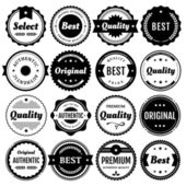 Collection of premium vector badges and packaging labels Wide range of graphic styles (including modern retro clean and classic) This set of isolated design elements includes typography for