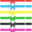 Постер, плакат: Polka dot bows with ribbons
