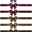 Постер, плакат: Holiday black polka dot bows with ribbons