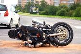 Motorbike accident on city street