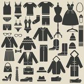 Oblečení ikony
