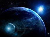Fantastické kometa a planety ve vesmíru