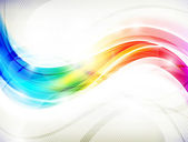 Abstract vector design with multicolored transparent waves