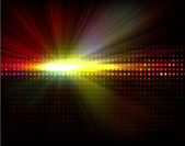 Vector party background with led display background and light - rays