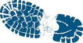 Blaue Wanderer Boot track
