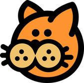 Egy Retro kép-ból egy gomb képe orrú macska