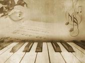 Hudební pozadí - vintage piano design