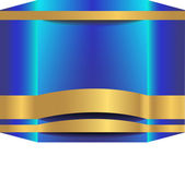 Abstract background 3D metallic cube