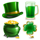 Set of St Patrick's Day symbols Vector illustration