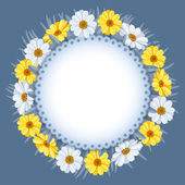 Wreath of spring flowers