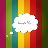 Vector card with colorful background and scrap speech bubble