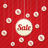 Sale poster with percent discount (vector).