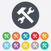 Oprava nástroje ikonu podepsat. Služba symbol