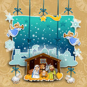 Crib collage on a light background decorated