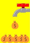 Illustrazione di guadagnare soldi da reddito passivo
