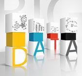 3d illustration concept: data