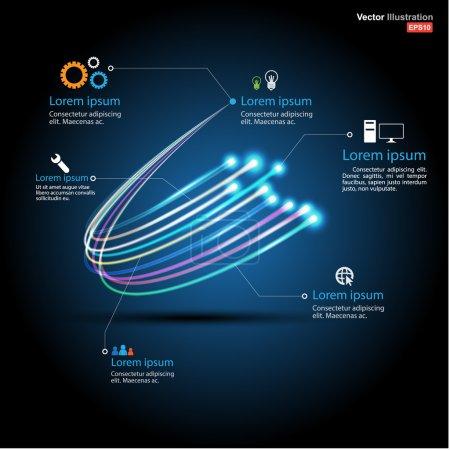 Fiber optic connection / business communication / network technology