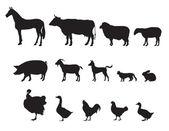 Farm animals vector set Livestock