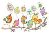 Cute birds for Easters and spring's design