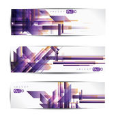 Set of abstract colorful web headers and cards