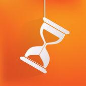 Sand clock icon. Glass timer symbol