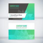 Green Modern Business Card Set Vector Design