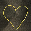 Постер, плакат: Rubber band shape: heart