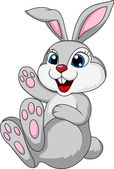 Vector illustration of Cute rabbit bunny cartoon sitting