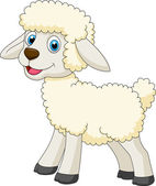 Illustration of cute sheep standing