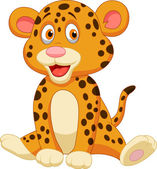 Cute baby leopard cartoon