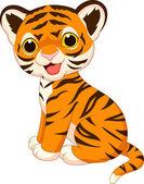 Roztomilé dítě tygr kreslený