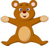 Happy bear brown cartoon jumping