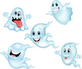 Cute ghost cartoon collection set