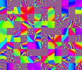 Geometrické fantazie v různobarevných tón. 0098