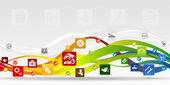 Garage mobile applications vector abstract background
