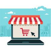 Internetový obchod. prodej, notebook s Markízou