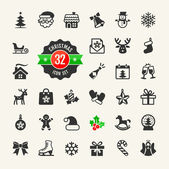 Christmas and winter holidays icon set 32 vector icons