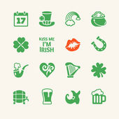 Saint Patrick's Day Universal flat icons set