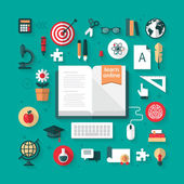 Icons for e-learning and online education