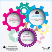 Gears Vector illustration can be used for workflow layout diagram number options web design infographics business brochure