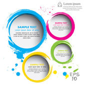 Modern circle Vector illustration can be used for workflow layout diagram number options web design infographics business brochure
