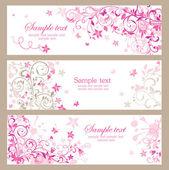 Gyönyörű rózsaszín vízszintes bannerek