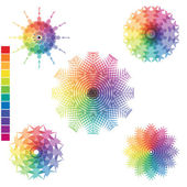 Array of rainbow colors isolated on the surface