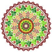 Colorful circular pattern of elegant oriental studies