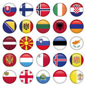 European Buttons Round Flags Zip includes 300 dpi JPG Illustrator CS EPS10 Vector with transparency