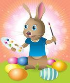 Velikonoční zajíček zdobení kraslic
