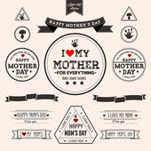 Set of vintage Happy Mothers Day - EPS10 Compatibility Required