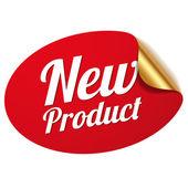 červené nový výrobek nálepka
