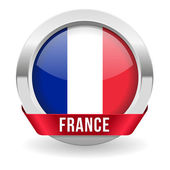 Round france button with ribbon and metallic border