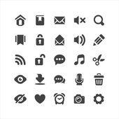Retina display ready icons set